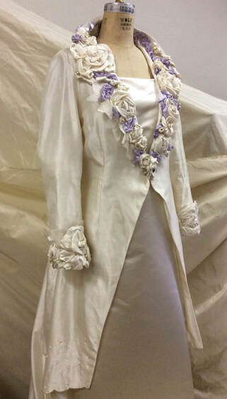 silk wedding coat